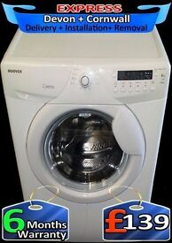 Large 8Kg Hoover Washing Machine, 1600 Mega spin, LCD, Fully Reconditioned inc 6 Months Warranty