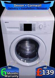 Beko Washing Machine, 1600 Mega Spin, A+, Quick Wash, LCD, Factory Refurbished inc 6 Months Warranty