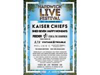 Kaiser Chiefs Ash Hardwick Live Saturday Day Tickets £15. 1 ticket left