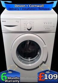 Time Saver, Slimline, Beko 5kg Washing Machine, White, Fully Refurbished inc 6 Months Warranty