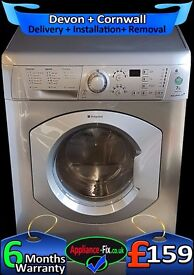 Hotpoint 1600 Mega Spin, Stainless Steel, Quick, Big 7Kg, Fully Refurbished inc 6 Months Warranty