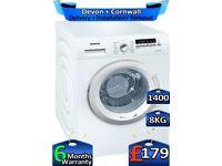 1400 Spin, 8kg Drum, Rapid Wash, Siemens Washing Machine, Factory Refurbished inc 6 Months Warranty