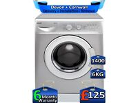 1400 Spin, 6kg Drum, Time Saver, Beko Washing Machine, Factory Refurbished inc 6 Months Warranty