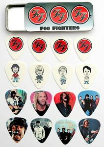 Tin of 16 Foo Fighters Full Colour Premium Guitar Picks