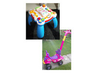 Leapfrog Playtable (with sounds and music) or Buddy Quad