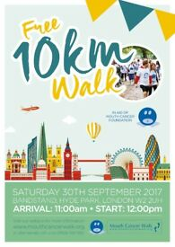 VOLUNTEERS WANTED FOR MOUTH CANCER 10 KM AWARENESS WALK