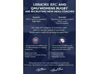 *Wanted* Ladies rugby coach *Paid*