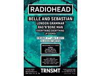1x TRNSMT Festival Friday ticket £50 (less than face value)
