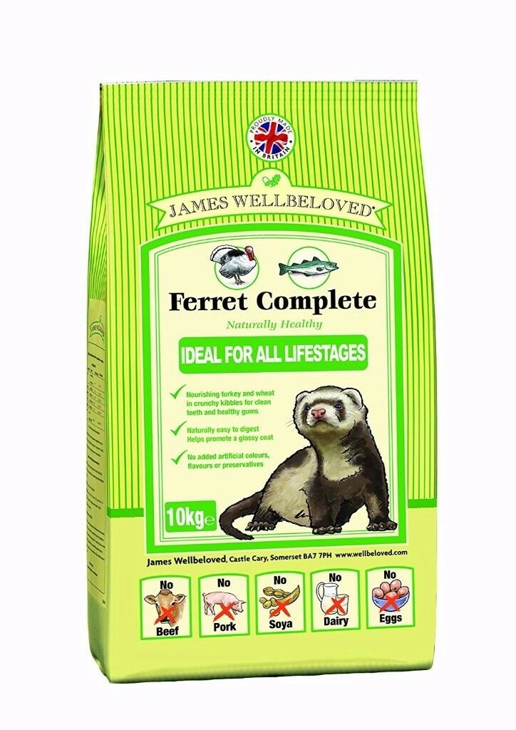 James Wellbeloved Ferret Complete 10 kg Ferret Food