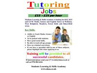 ***Urgently Tutors Required*** in Wollaton, West Bridgford, Bakersfield, Meadows and Forest Fields