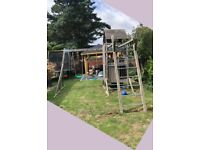 TP Climbing Frame/Monkey Bars & Duo Swing Set