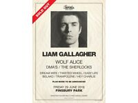 2x LIAM GALLAGHER TICKETS, FINSBURY PARK, LONDON. GENERAL ADMISSION, FRIDAY 29th JUNE