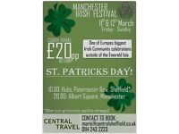 St. Patrick's Day Manchester Irish Festival Coach Trip!