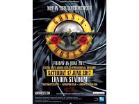 GnR 1 x Standing Ticket Sat 17th London