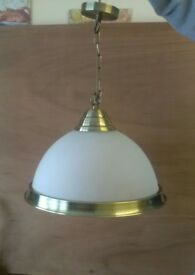 Ribbed Glass pendant