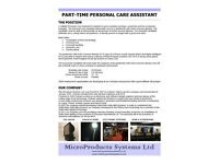 Part-time Personal Care Assistant