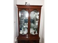Mahogany Wood Glass Display Cabinet showcase