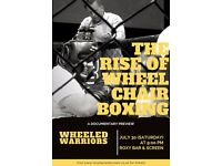 DOCUMENTARY SCREENING - THE RISE OF WHEELCHAIR BOXING - FREE DRINKS......