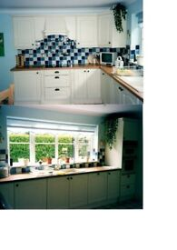Ivory Used Kitchen Units by Crown