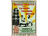 REGGAE HEAVEN MEETS YA'AKOV TSADDIK SOUND - A ROOTS REVIVAL AND DUB SESSION