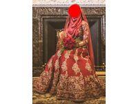 BRIDAL / WEDDING LENGHA + DUPATTA & HIJAB