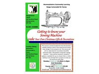 Sewing Class in Abergavenny - Get to know your sewing machine