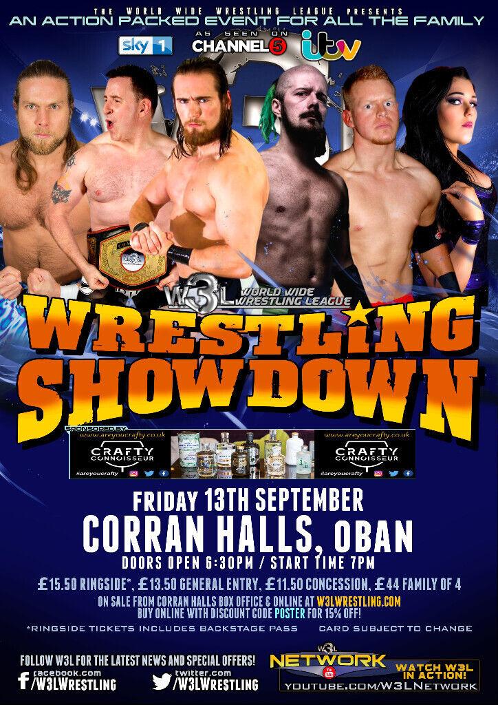 American Wrestling - W3L Wrestling Showdown - Oban Tickets | in Oban,  Argyll and Bute | Gumtree