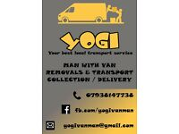 YOGI - MAN WITH VAN / REMOVALS / TRANSPORT / LOCAL SERVICES FROM £15 BEST PRICE GUARANTEE