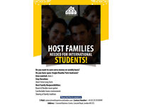 Host Families Needed For International Students.