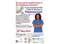 START A GREAT CAREER IN THE NHS – NO EXPERIENCE NECESSARY! - PHLEBOTOMY Training in London - £85