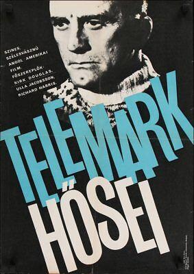HEROES OF TELEMARK Hungarian movie poster KIRK DOUGLAS RICHARD HARRIS NORWAY