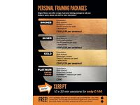 Personal Training with FREE gym usage.