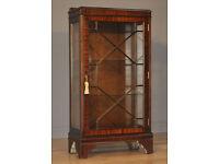 Attractive Small Vintage Mahogany Side Single Display Cabinet