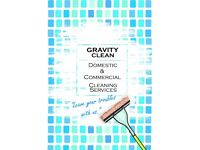 GravityClean; Domestic & Commercial Cleaning; Starting from just £10 per hour!