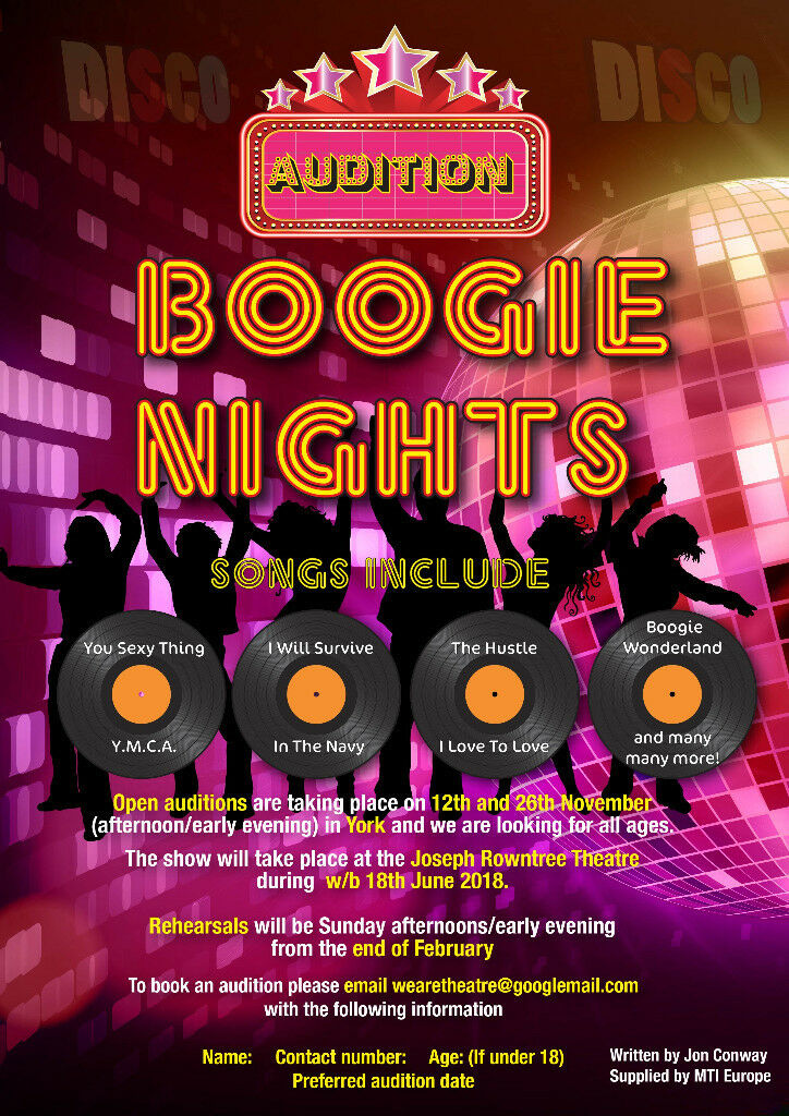 Open Auditions: Boogie Nights the Musical