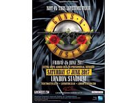 2x Guns N Roses Tickets Saturday 17th 2017 London. *TICKETS NOW IN HAND*