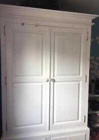 Solid Wood Wardrobe WHITE
