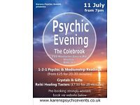Psychic Evening at The Colebrook Shirley on 11 July