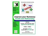 Improve your Numeracy class starting at Monmouth Community Hub this September 2016