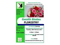 Floristry Class in Usk, Monmouthshire