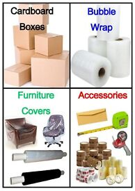 Packaging Materials for Storage / Removal - Cardboard Boxes, Bubble Wrap, Parcel Tape & Shrink Wrap