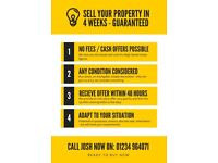 Sell Your Property in 4 Weeks - No Fees, Cash Offers
