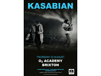 KASABIAN TICKETS - STANDING - LONDON - O2 ACADEMY BRIXTON - 23 AUGUST 2018