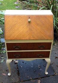 Upcycled solid wood writing desk/bureau