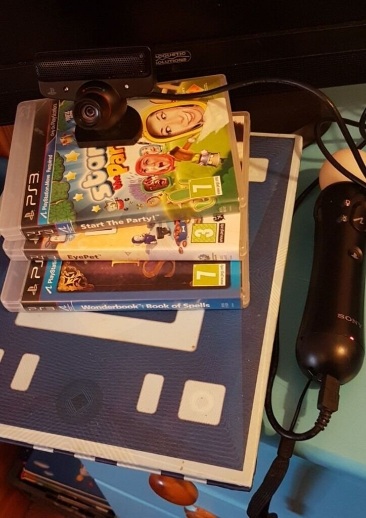 Ps3 move and morein Walsall, West MidlandsGumtree - Ps3 camera Ps3 wand no charger wire as i didnt have one. Ps3 wonder book 3 games Harry potter spell book Eye pet Start the party