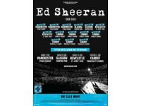 Ed Sheeran 2 x tickets - Etihad Stadium, Manchester 27/05/2018