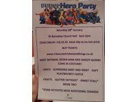 Superhero party public