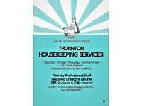 THORNTON HOUSEKEEPING SERVICES -Professional cleaning , Pet care , grocery shopping