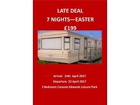 Towyn Edwards Leisure Park CF411 - 2 Bedroom Caravan EASTER £199