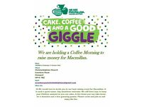 Macmillan Coffee Morning 1st October, 10.30am-12pm